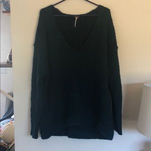 Free people v-neck dark teal sweater